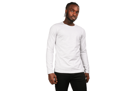 KNIT PIMA JERSEY LONG SLEEVE MENS SOFTGOODS WINGS+HORNS H.WHITE S