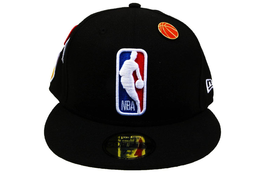 NBA18 DRAFT 5950 NBA LOG OTC HATS NEW ERA BLACK 7 1/4