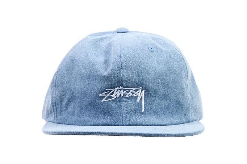 WASHED OXFORD CANVAS CAP HATS STUSSY NAVY O/S 131782