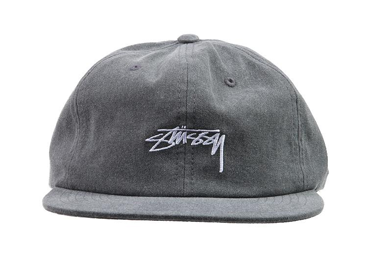 WASHED OXFORD CANVAS CAP HATS STUSSY BLACK O/S 131782