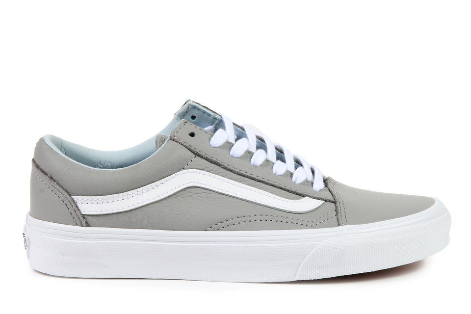 OLD SKOOL (LEATHER) - VN0A38G1QD5 WOMENS FOOTWEAR VANS OXFORD/ DRIZZLE 6 VN0A38G1QD5