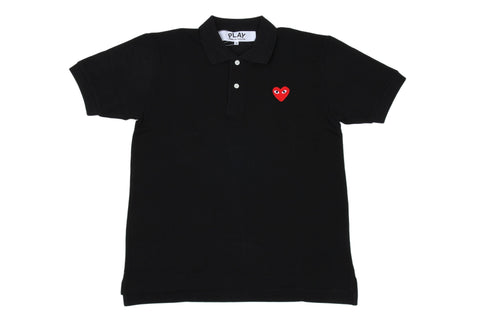 SMALL HEART POLO BLK/RED