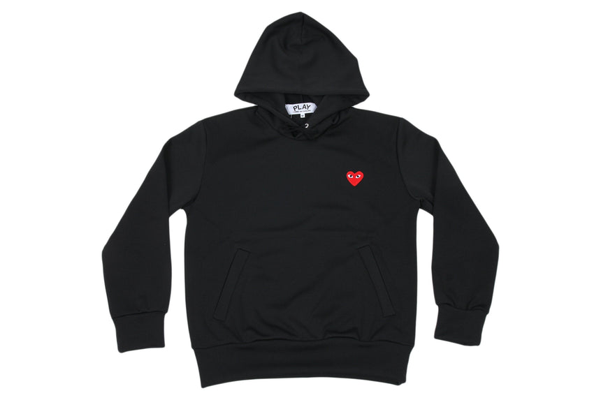 RED EMBLEM LIGHTWEIGHT HOODIE MENS SOFTGOODS COMME DES GARCONS BLACK S