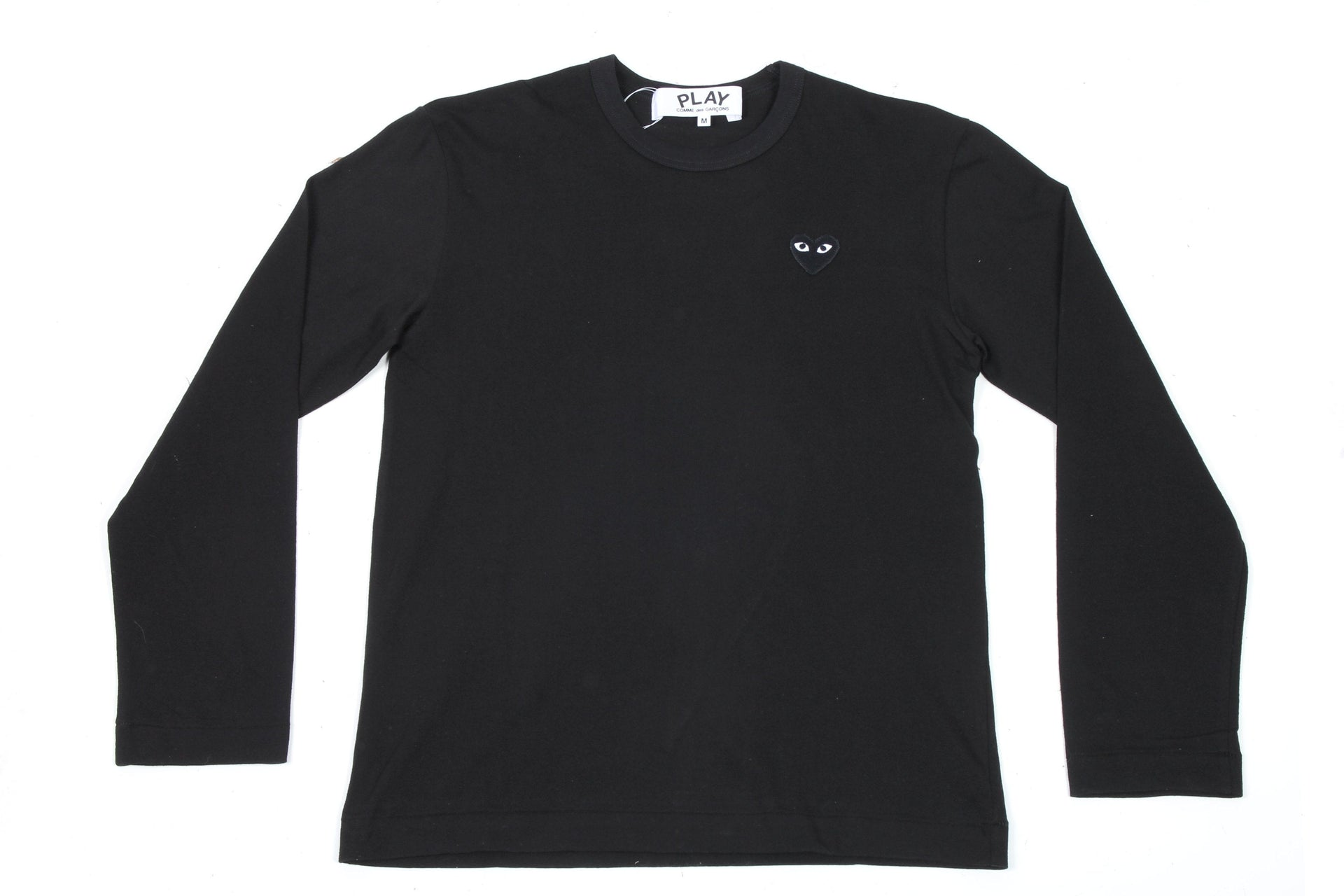 BLACK HEART BLACK L/S SHIRT MENS SOFTGOODS COMME DES GARCONS BLACK/BLACK S
