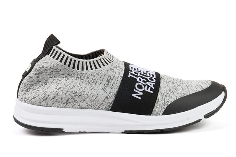 NSE TRACTION KNIT MOC MENS FOOTWEAR THE NORTH FACE HEATHER GREY/ TNF WHITE 7 NF0A3RR5LD4