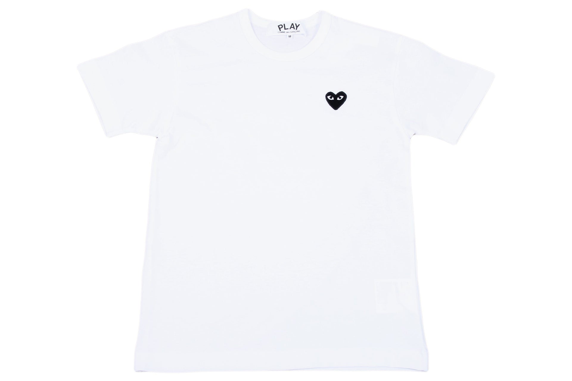 SMALL HEART WHT/BLK MENS SOFTGOODS COMME DES GARCONS WHITE/BLACK M