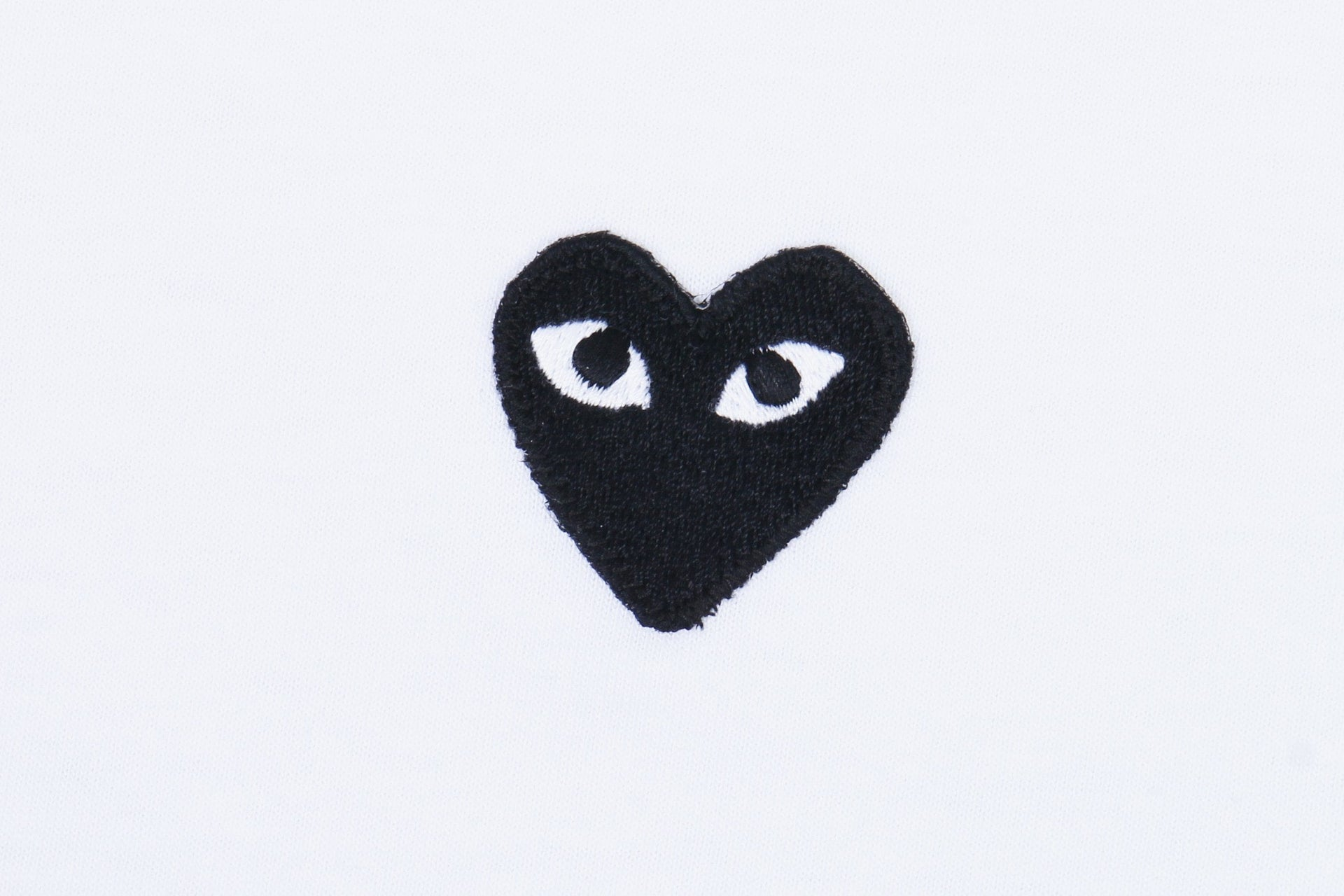 SMALL HEART WHT/BLK MENS SOFTGOODS COMME DES GARCONS