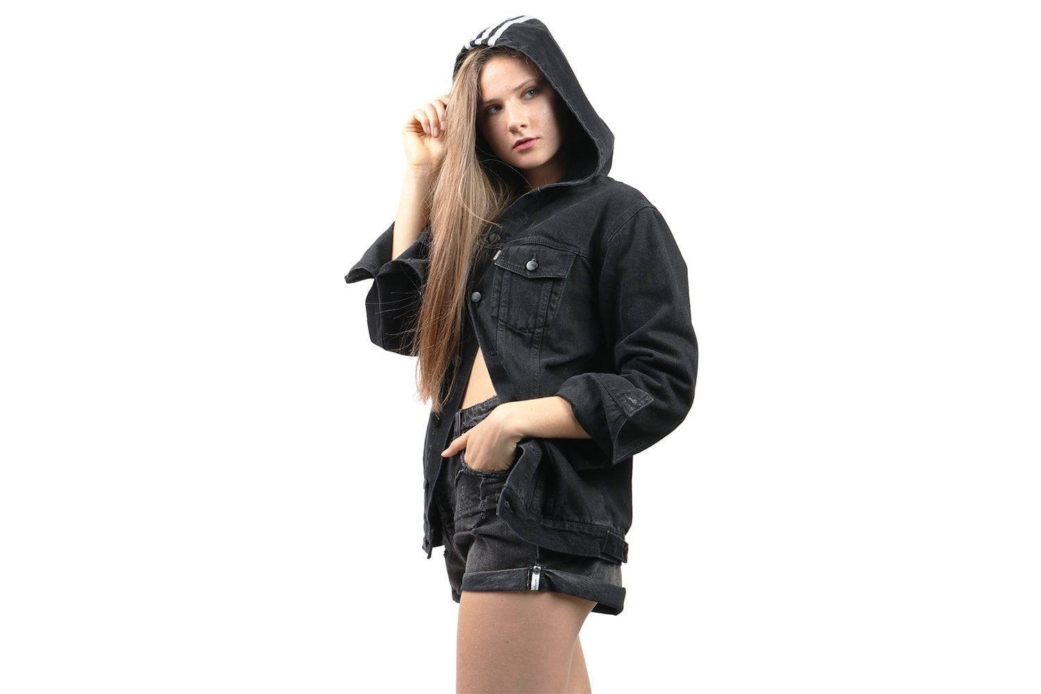 NAKED DENIM JACKET - CY4788 WOMENS SOFTGOODS ADIDAS