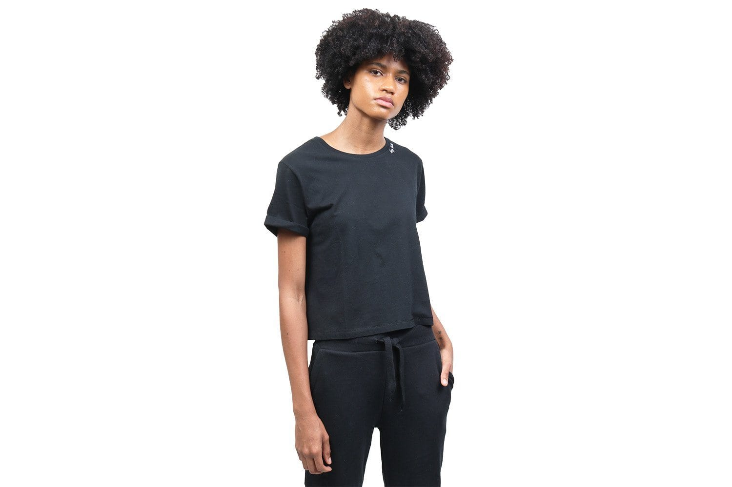 HEY BABE CROPPED TEE WOMENS SOFTGOODS BITNB BLACK XS