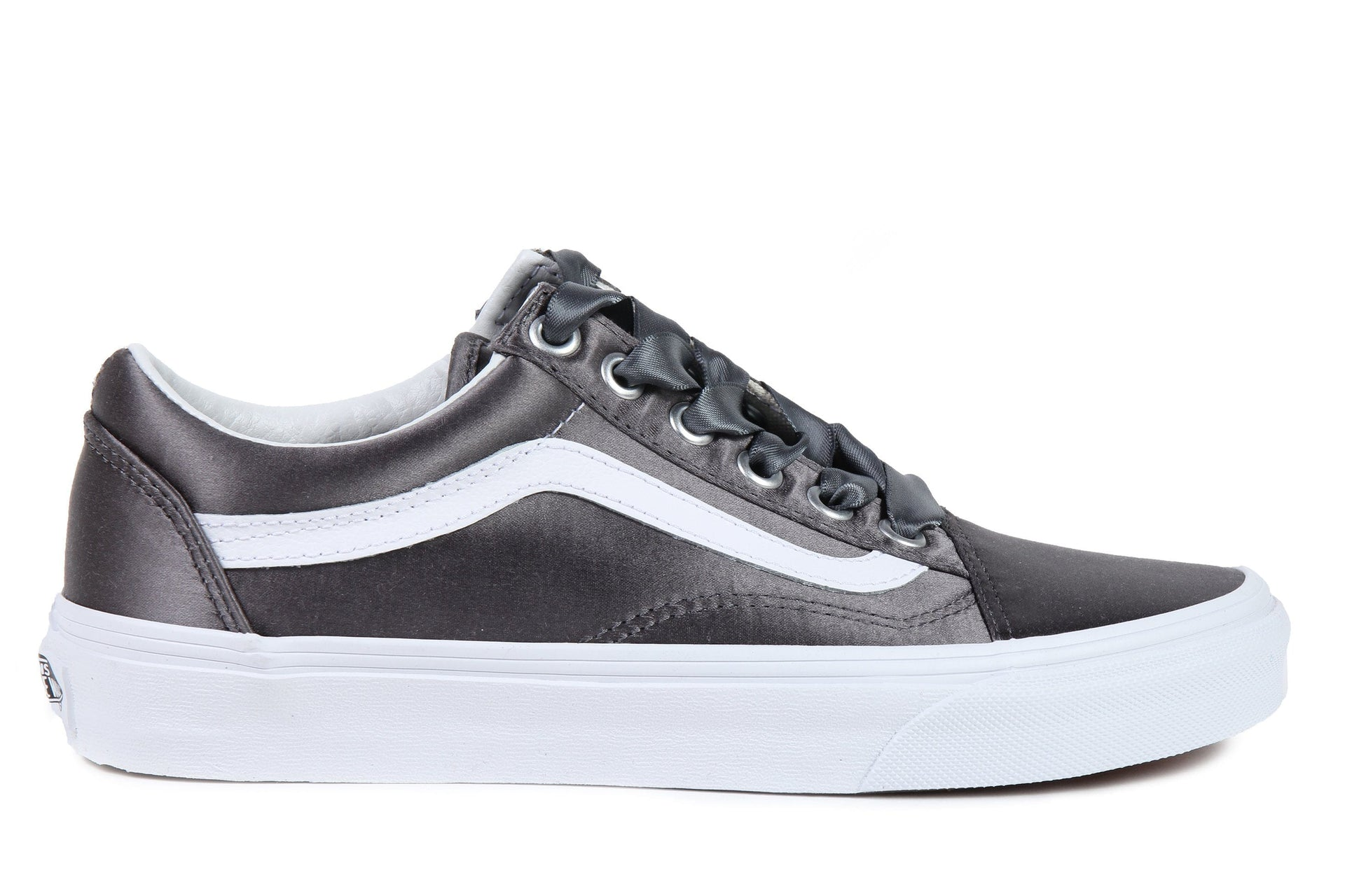 OLD SKOOL (SATIN LUX) - VN0A38G1R1I WOMENS FOOTWEAR VANS (SATIN LUX) GRAY/ TRUE WHITE 6 VN0A38G1R1I