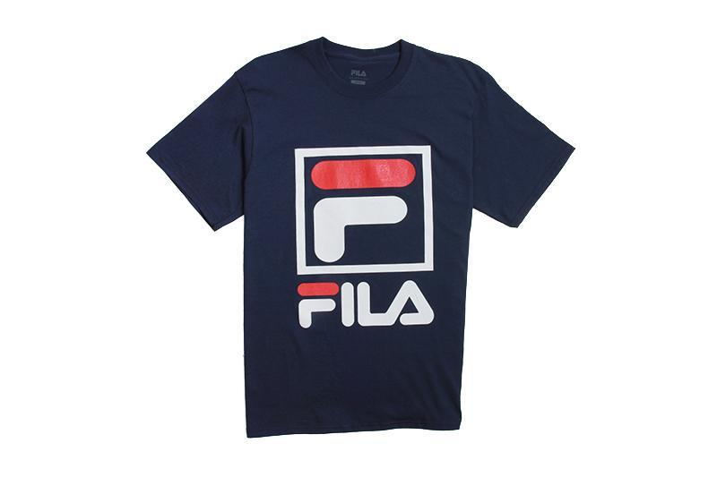 STACKED TEESHIRT MENS SOFTGOODS FILA NAVY WHY CRED S LM163XF4