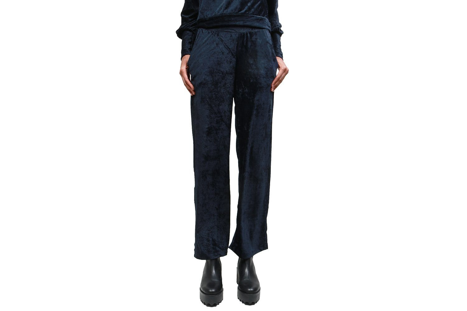 JULES TROUSER WOMENS SOFTGOODS JUST FEMALE DARK SAPPPHIRE XS