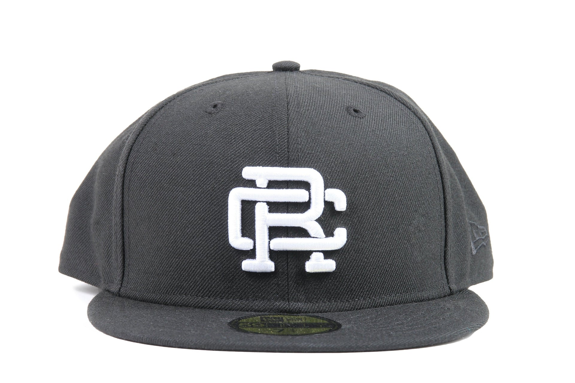BLACK WOVEN NEW ERA RC EMBROIDERED HAT RC-7052 HATS REIGNING CHAMP BLACK 7 3/4