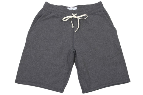 H.CHARCOAL KNIT MID WT TERRY SWEATSHORT RC-5019