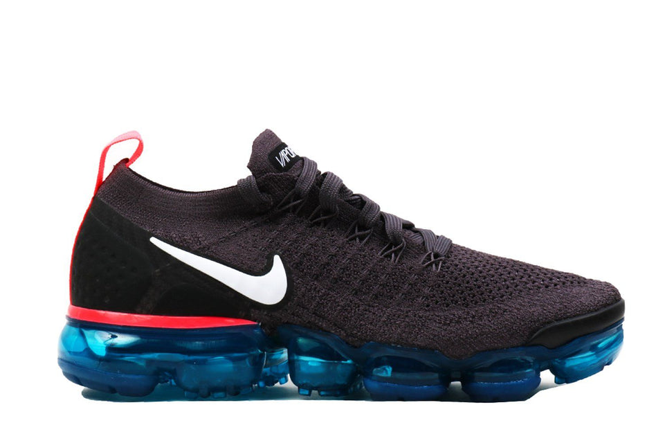 AIR VAPORMAX FLYKNIT 2-942843-009 WOMENS FOOTWEAR NIKE THUNDER GREY/WHITE-GEODE TEAL-BLAC 8