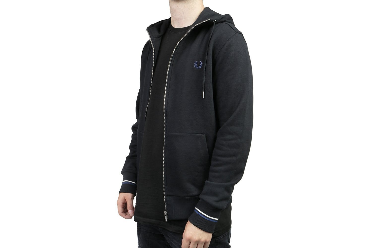 HOODED ZIP THROUGH SWEATSHIRT - J7536 MENS SOFTGOODS FRED PERRY