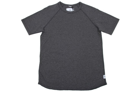 H.CHARCOAL KNIT COTTON JERSEY RAGLAN TEE RC-1030