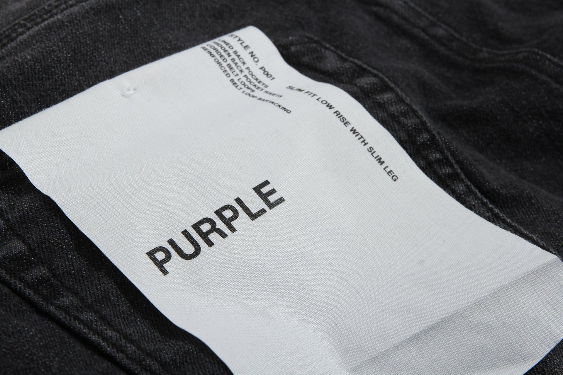 SLIM FIT - BLACK OVER SPRAY MENS SOFTGOODS PURPLE JEANS
