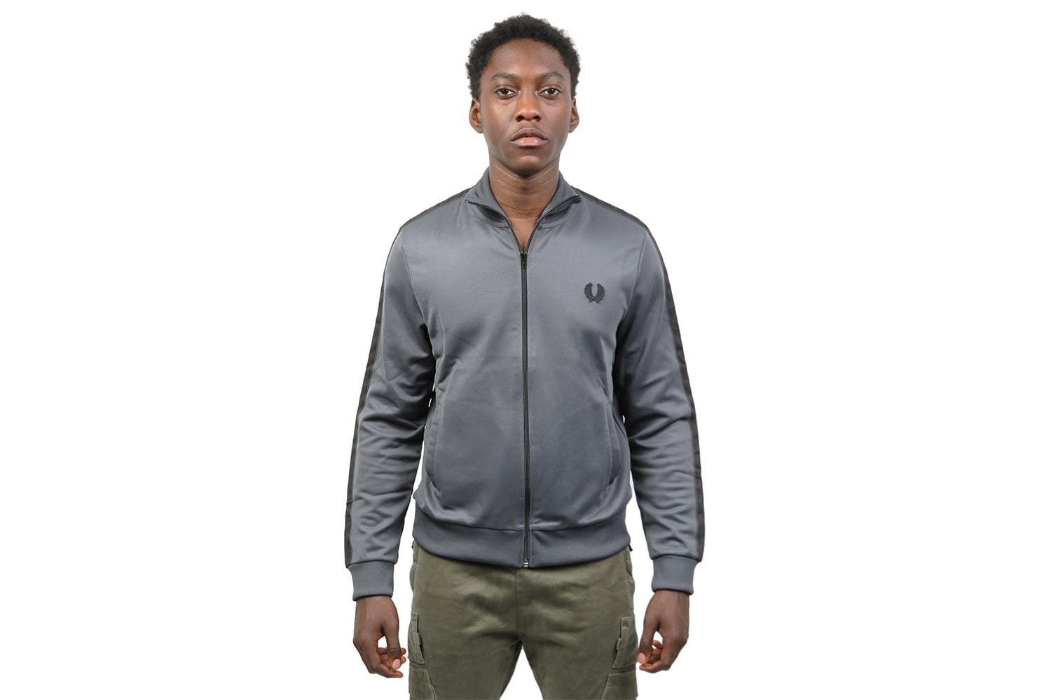 TONAL TAPED TRACK JACKET- J3524 MENS FRED PERRY NRML GREY