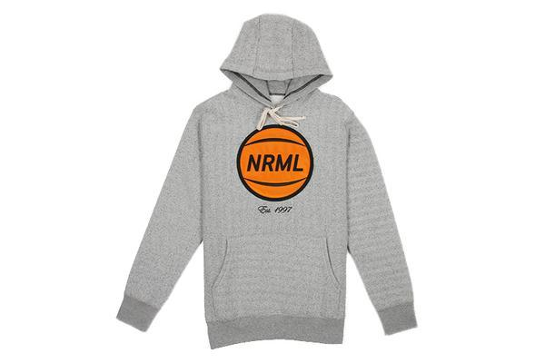NRML EMBROIDERED BASKETBALL HOODIE MENS SOFTGOODS NRML HEATHER GREY XL