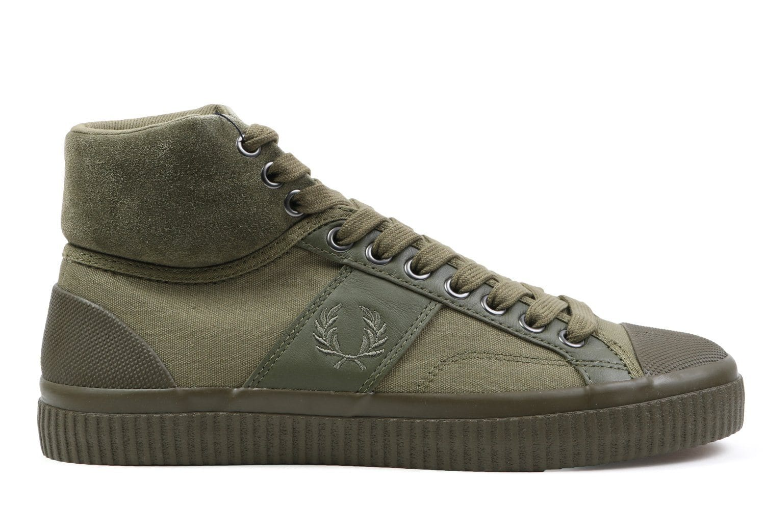 HUGHES MID WNTRSD WAXED CNVS - B 4301 MENS FOOTWEAR FRED PERRY