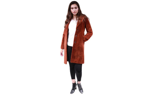 RUBINA LADIES COAT HIDDEN SNAPS