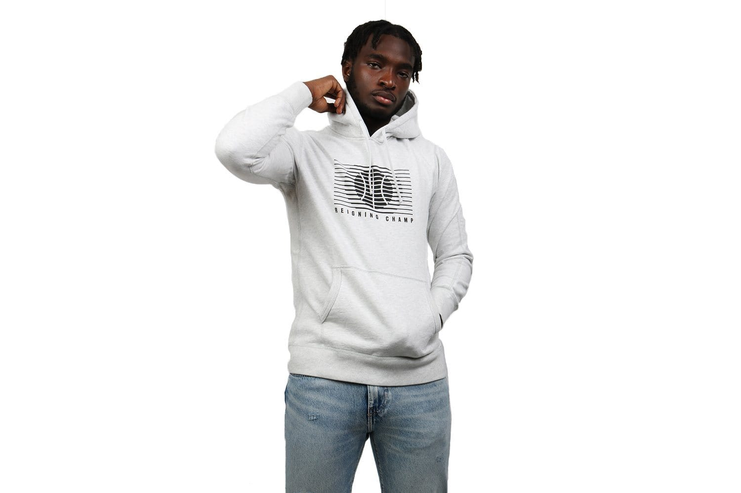 KNIT MID WT TERRY STREET BALL PULLOVER HOODIE-RC-3525 MENS SOFTGOODS REIGNING CHAMP
