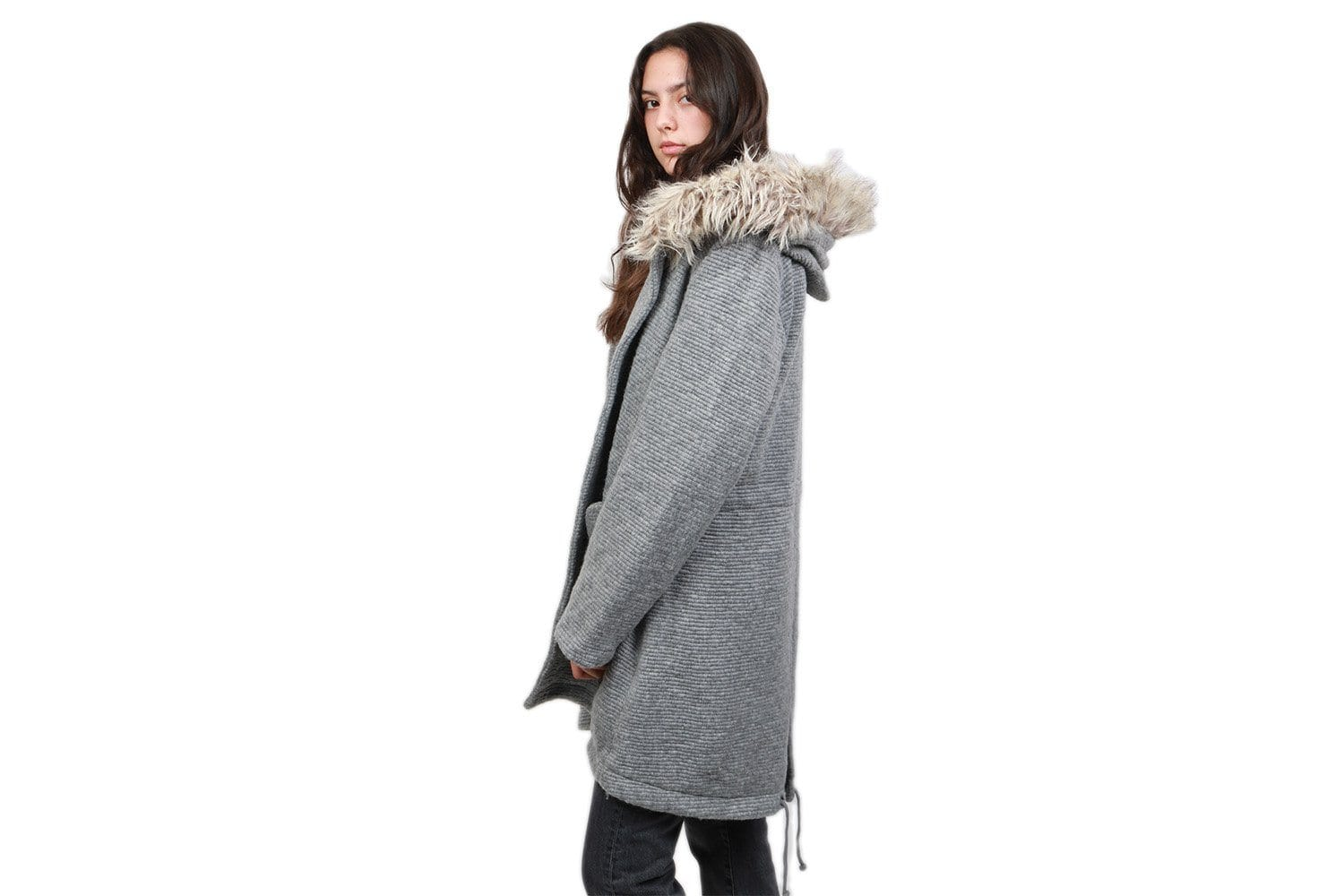 GIRLS IN THE HOOD -MED HEATHER GREY-BI300210