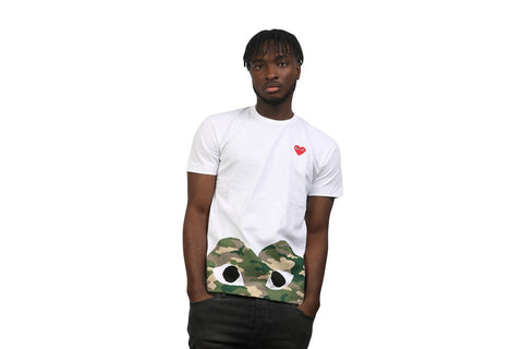 SMALL HEART BOTTOM CAMO HEART TEE - T244 MENS SOFTGOODS COMME DES GARCONS