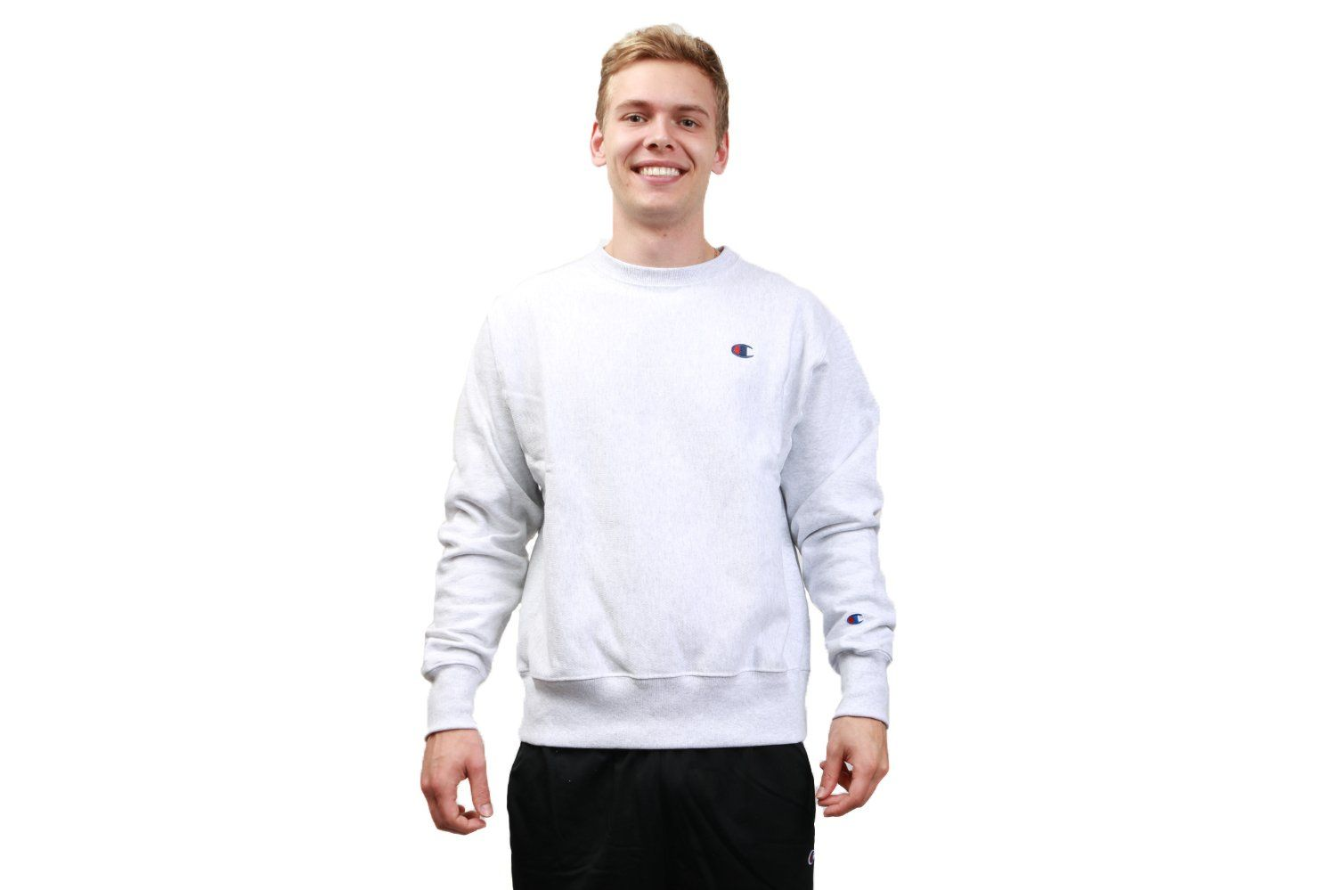 MENS FLEECE PULLOVER 'C' CHEST - GF70 MENS SOFTGOODS CHAMPION SILVER GREY S