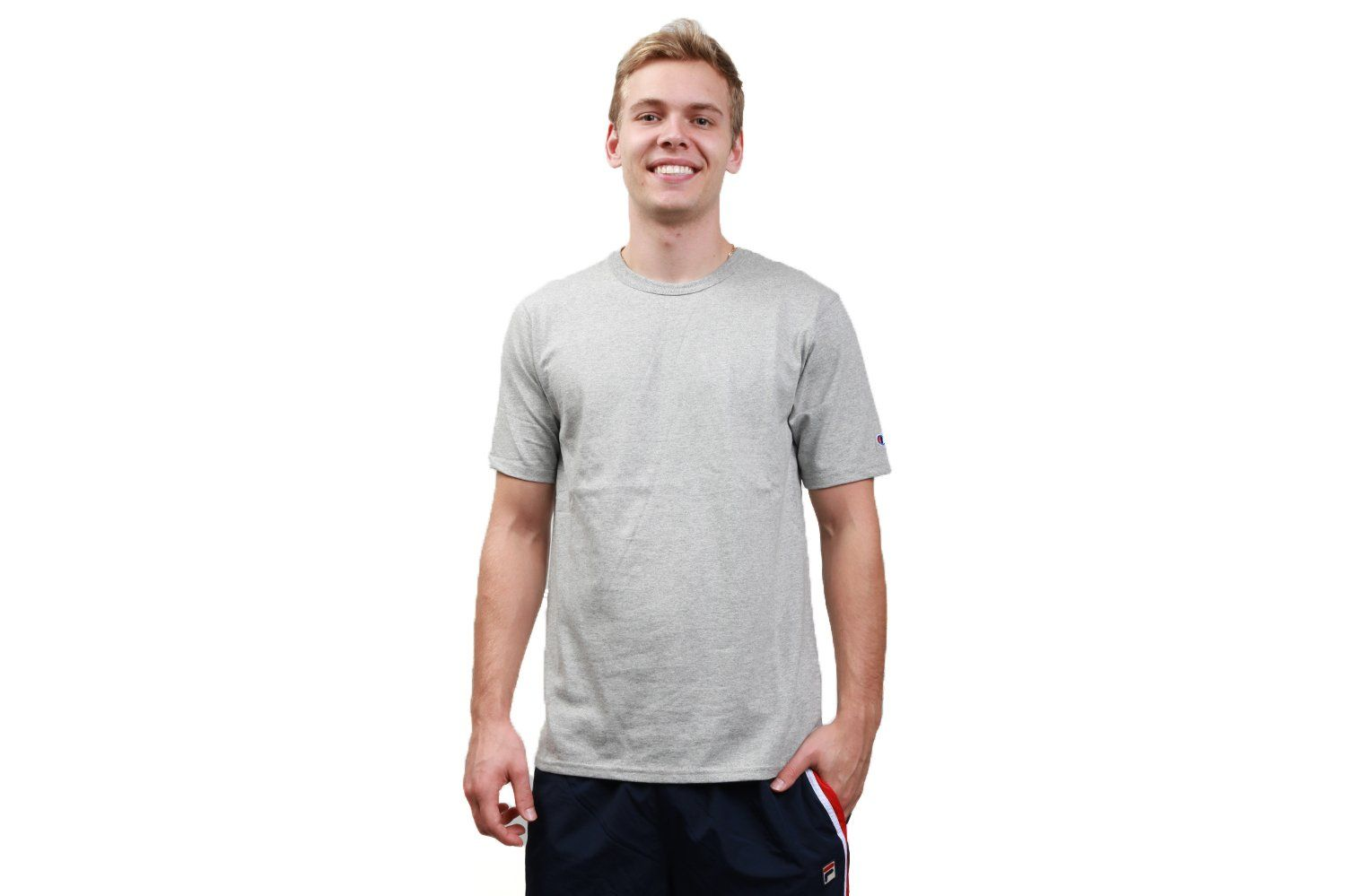REVERSE WEAVE TEE 'C' SLEEVE - GT19 MENS SOFTGOODS CHAMPION OXFORD GRAY S