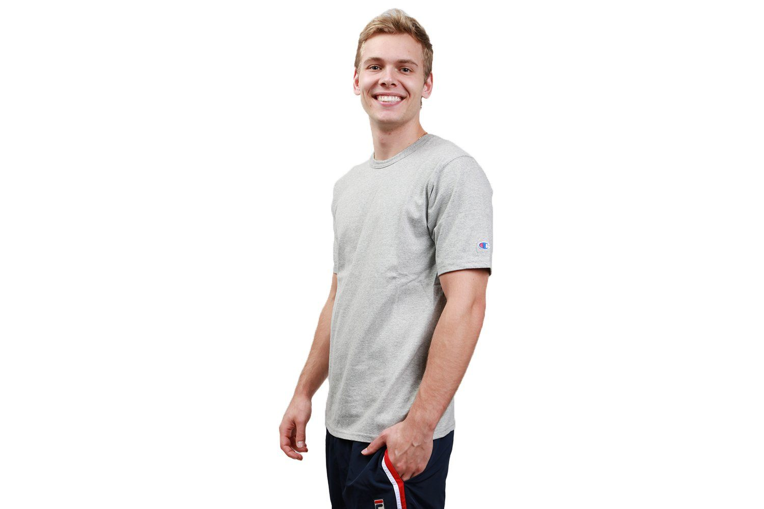 REVERSE WEAVE TEE 'C' SLEEVE - GT19 MENS SOFTGOODS CHAMPION