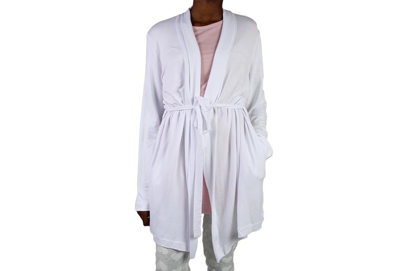THIS GIRL GRAPHIC ROBE WOMENS SOFTGOODS SLEEP WHITE/BLUSH XS 217103