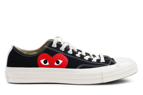 CT 70 CDG PLAY OX LOW - 150206C MENS FOOTWEAR CONVERSE BLACK/ WHITE 11
