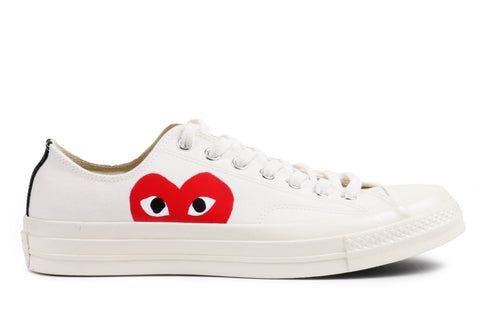 CT 70 CDG PLAY OX LOW - 150207C MENS FOOTWEAR CONVERSE MILK/ WHITE 4