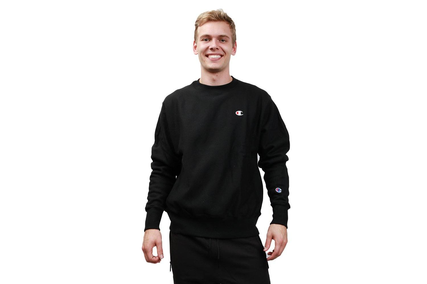 MENS FLC PULLOVER 'C' CHEST - GF70 MENS SOFTGOODS CHAMPION BLACK 2XL
