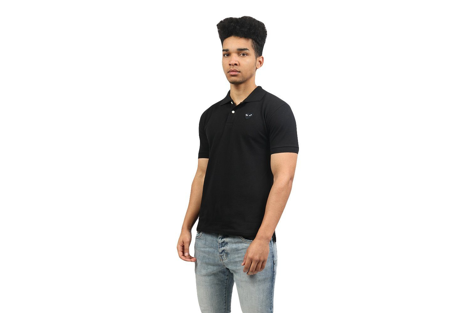 BLACK HEART POLO SHIRT MENS SOFTGOODS COMME DES GARCONS