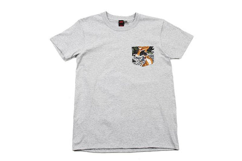 POCKET TEE - TIGER & WAVES