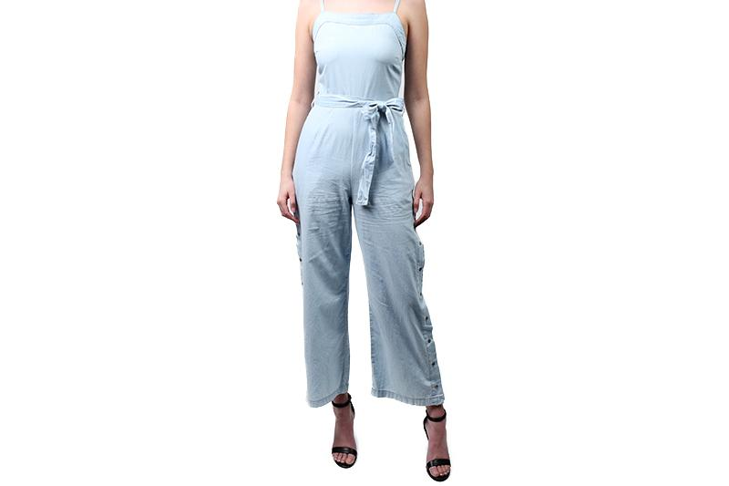 STREET SNAP SIDE JUMPSUIT WOMENS SOFTGOODS MINK PINK