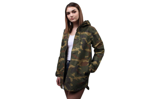 W CLASSIC HOODED JUMPER WOODLAND CAMO