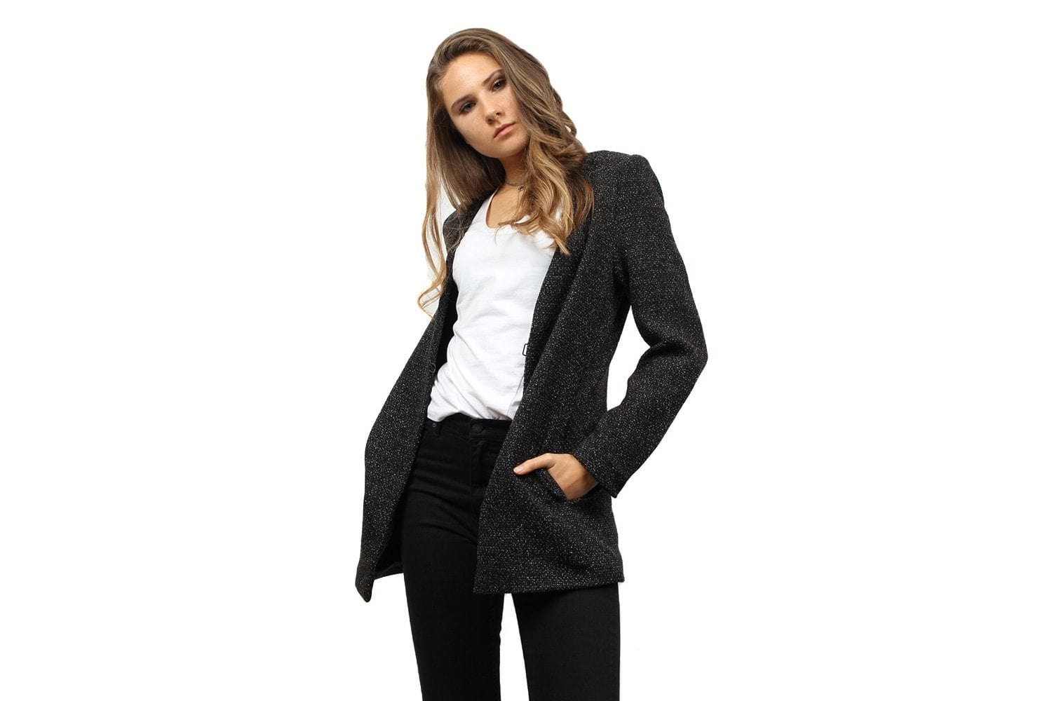 FRANCOISE BLAZER-9011 WOMENS SOFTGOODS JUST FEMALE