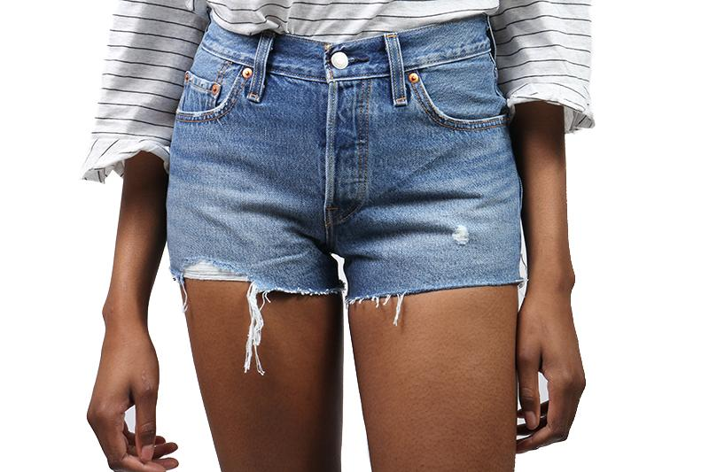 501 SHORT BACK TO YOUR HEART WOMENS SOFTGOODS LEVIS 32317 25 0073 BLUE