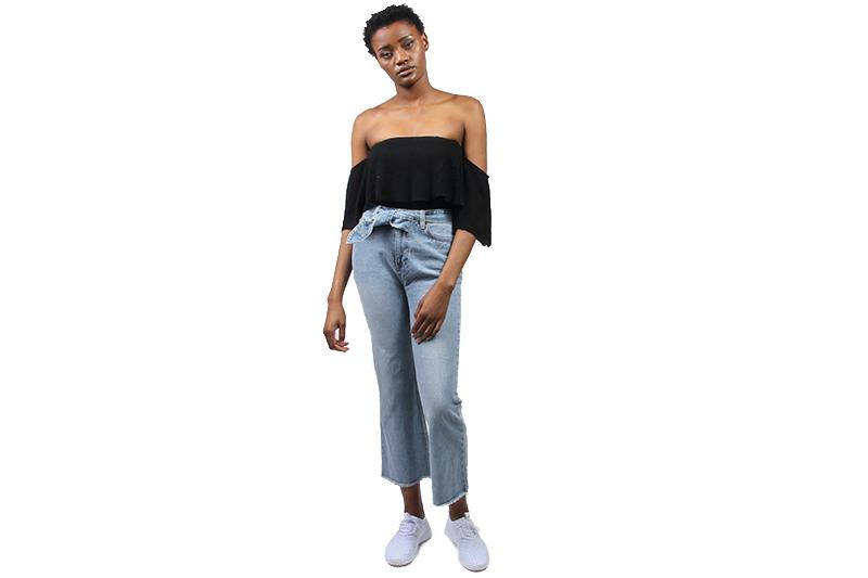 ALL TIED UP PANT WOMENS SOFTGOODS AMUSE SOCIETY FADED VINTAGE WASH 25 A302GALL