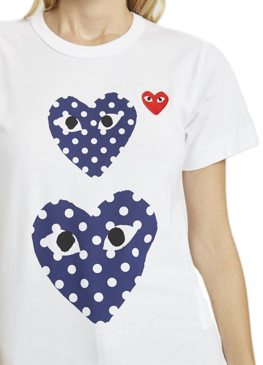 SMALL RED HEART/TWO POLKA DOT HEARTS WOMENS SOFTGOODS COMME DES GARCONS