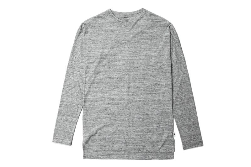 L/S DROP SHOULDER KNIT TEE MENS SOFTGOODS PUBLISH ASH HEATHER S