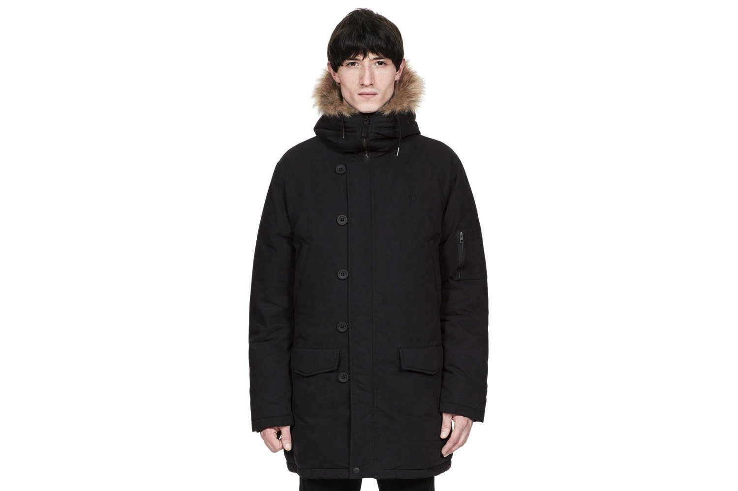 DOWN SNORKEL PARKA-J4517 MENS SOFTGOODS FRED PERRY BLACK L