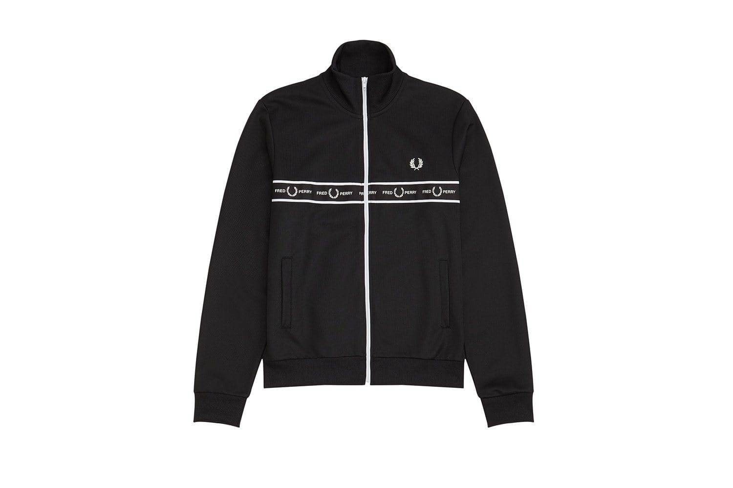 TAPED CHEST TRACK JACKET - J7501 MENS SOFTGOODS FRED PERRY