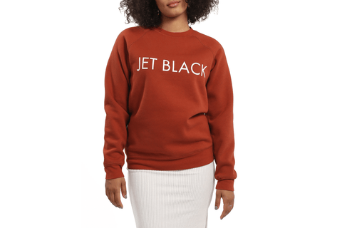 JET BLACK CORE CREW-BTL024 WOMENS SOFTGOODS BRUNETTE THE LABEL