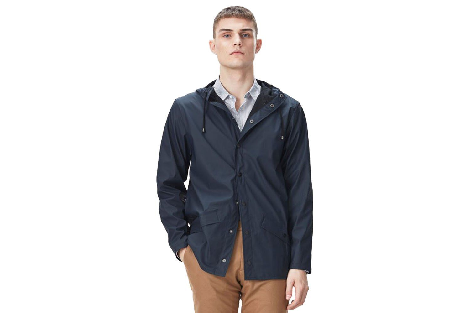 JACKET MENS SOFTGOODS RAINS BLUE S/M