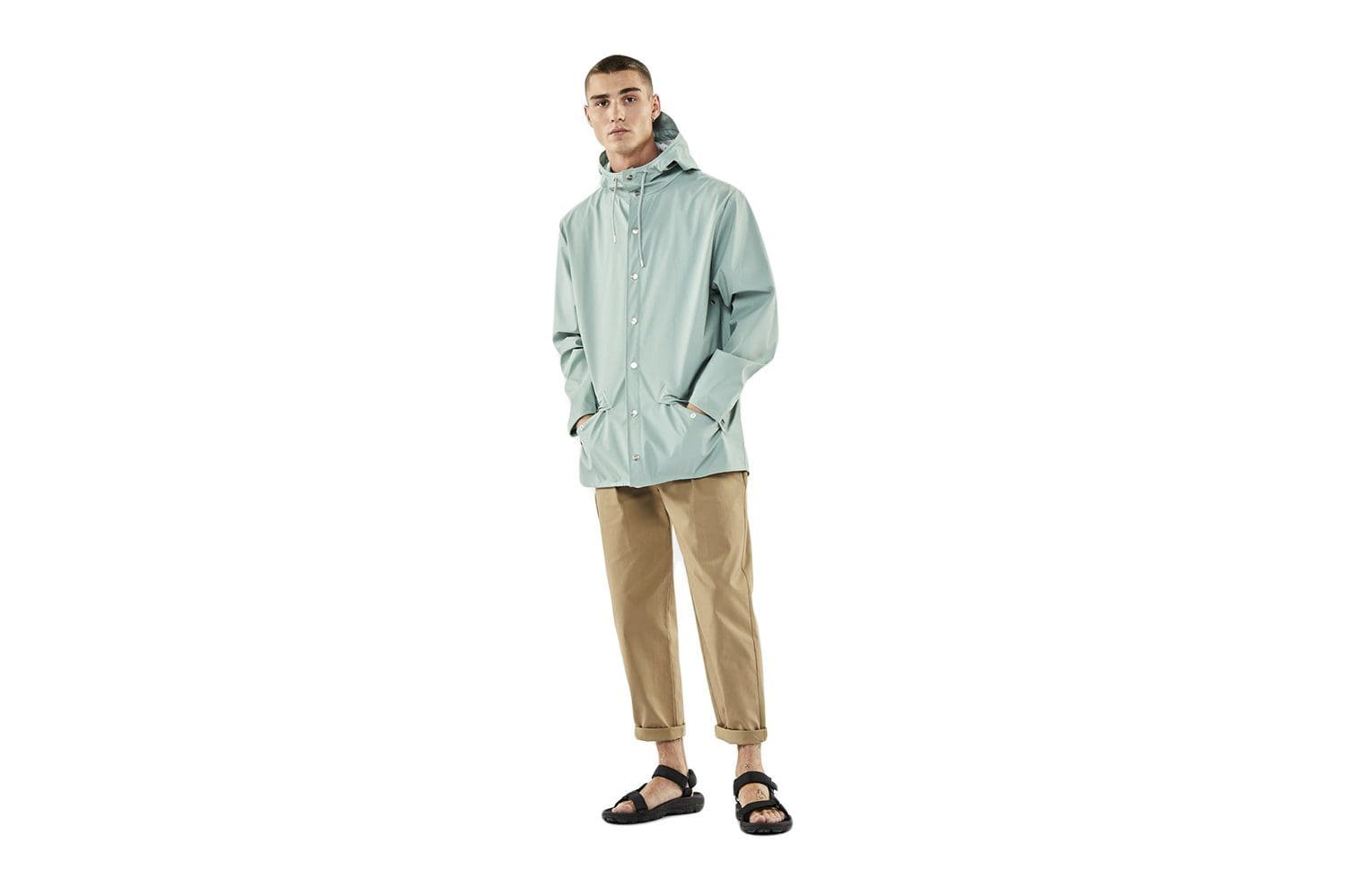 JACKET - 1201 MENS SOFTGOODS RAINS DUSTY MINT L/XL